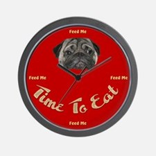 Time To Eat Wall Clock