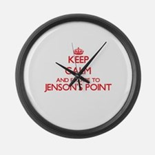 Keep calm and escape to Jenson'S Large Wall Clock
