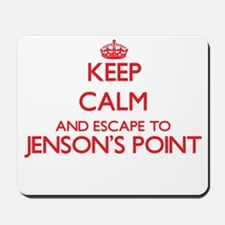 Keep calm and escape to Jenson'S Point T Mousepad
