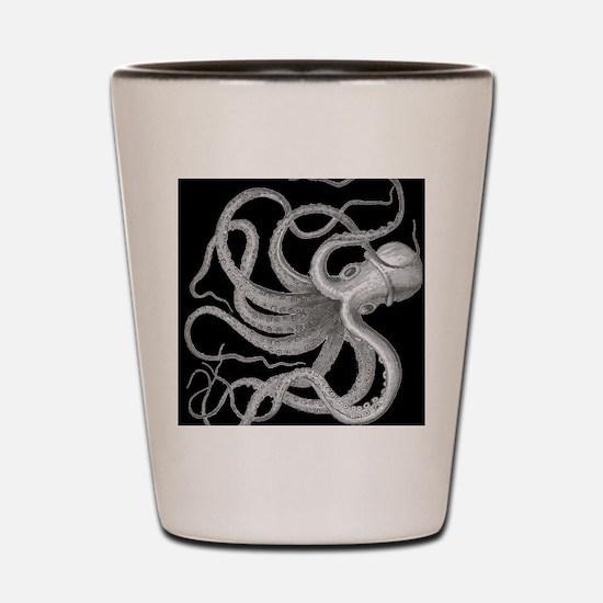 vintage octopus kraken sea creature nau Shot Glass