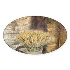 barn wood wheat horseshoe Decal