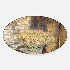 barn wood wheat horseshoe Decal