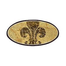 Worn Antique Fleur De Lis Patch