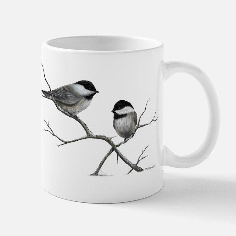 chickadee song bird Mugs