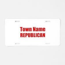 Republican Aluminum License Plate