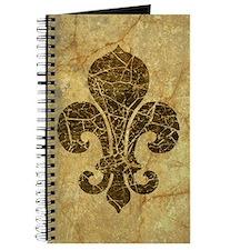 Cracked Red Fleur De Lis Journal