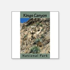 "Unique Kings canyon national park Square Sticker 3"" x 3"""