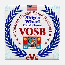 Ships Wheel Card Game Company Tile Coaster