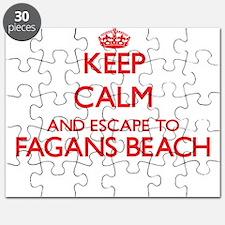 Keep calm and escape to Fagans Beach Hawaii Puzzle