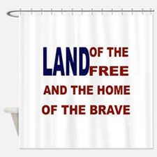 Free flag Shower Curtain