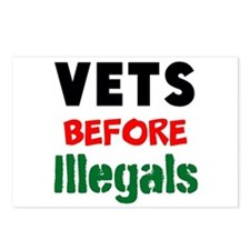 Vets Before Illegals Postcards (Package of 8)