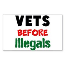 Vets Before Illegals Decal