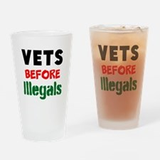 Vets Before Illegals Drinking Glass