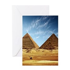 Egyptian Pyramids and Camel Greeting Cards