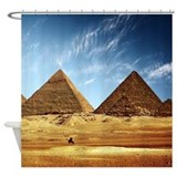 Egyptian pyramids and camel Shower Curtains