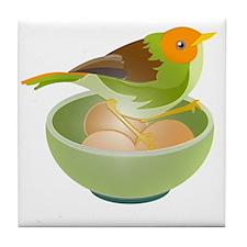 Bird Nesting Tile Coaster