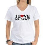 I Love Mr. Darcy Women's V-Neck T-Shirt