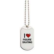 I love Figure Skating Dog Tags
