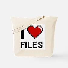 Funny I love data Tote Bag