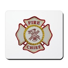 Fire Chief Maltese Mousepad