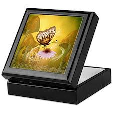 Butterfly with flower Keepsake Box