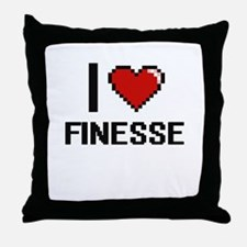 I love Finesse Throw Pillow