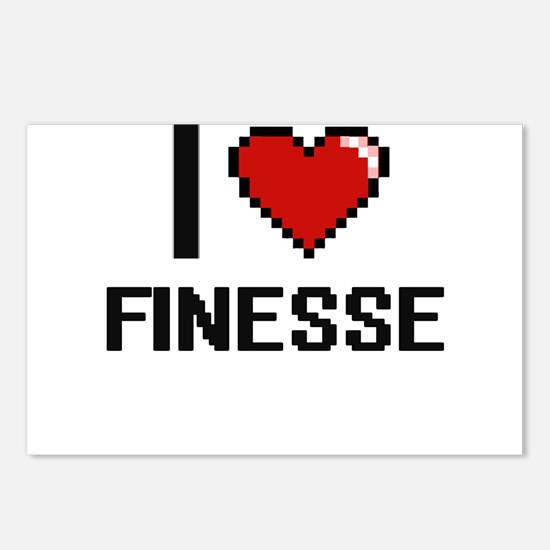 I love Finesse Postcards (Package of 8)