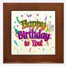 Happy Birthday To You Framed Tile