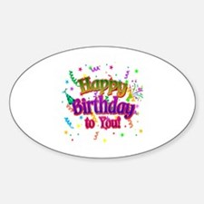 Happy Birthday To You Sticker (Oval)