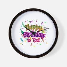 Happy Birthday To You Wall Clock