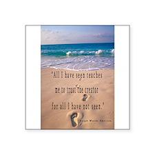 "Cute Footprints sand Square Sticker 3"" x 3"""