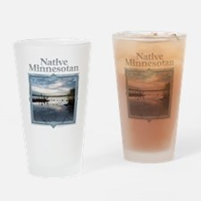 Cute Minnesota mosquito Drinking Glass