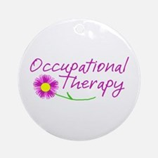 Occupational Therapy Hand Flower Ornament (Round)