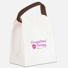 Occupational Therapy Hand Flower Canvas Lunch Bag