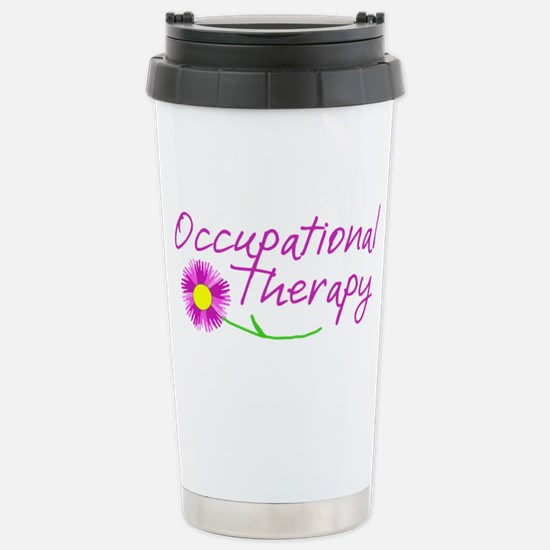 Occupational Therapy Hand Flower Travel Mug