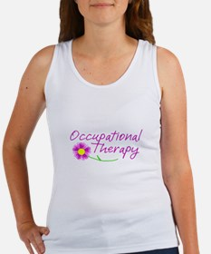 Occupational Therapy Hand Flower Tank Top