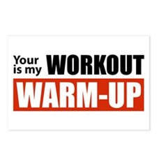 Your Workout...My Warm-up Postcards (Package of 8)