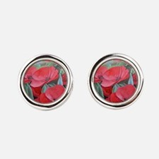 poppies Round Cufflinks
