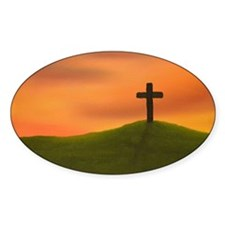Cross on a Hill Decal