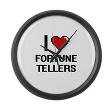 I love Fortune Tellers Large Wall Clock