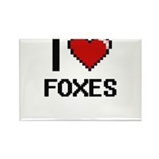 I love Foxes Magnets