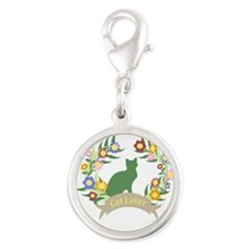 Floral Cat Lover Charms