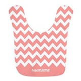 Personalized baby girl Fleece Bibs