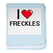 I love Freckles baby blanket