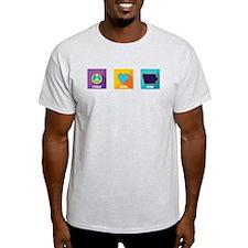 Peace, Love, Iowa T-Shirt