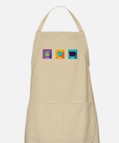 Peace, Love, Iowa Apron