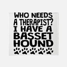 I Have A Basset Hound Throw Blanket