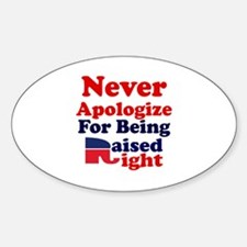 NEVER APOLOGIZE FOR BEING RAISED RI Decal