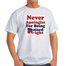 NEVER APOLOGIZE FOR BEING RAISED RIG T-Shirt