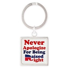 NEVER APOLOGIZE FOR BEING RAISED R Square Keychain